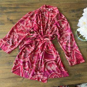 Victoria's Secret red paisley robe